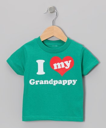 Green 'I Love My Grandpappy' Tee - Toddler & Kids