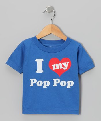 Blue 'I Love My Pop Pop' Tee - Toddler & Kids