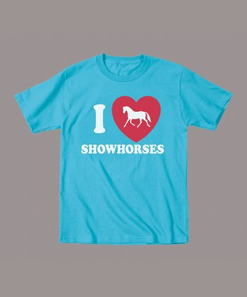 Turquoise 'I Love Showhorses' Tee - Toddler & Kids