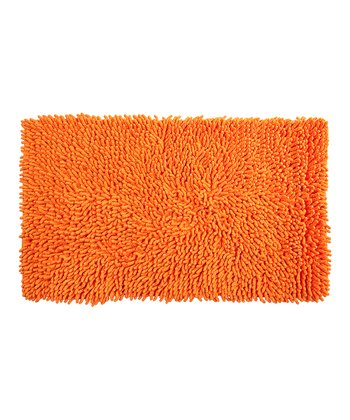 Orange All That Jazz Bath Rug