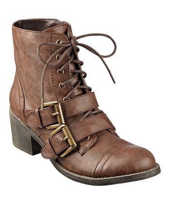 Brown Buckle Opera Boot