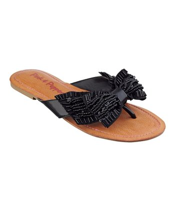 Black Bow Swift Sandal