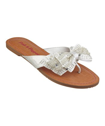 White Bow Swift Sandal