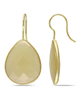 Champagne Onyx Teardrop Earrings