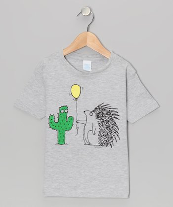 Heather Gray Doomed Balloon Tee - Toddler & Boys