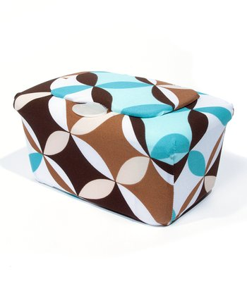Blue & Brown Diamond WipesWraps Baby Wipes Cover