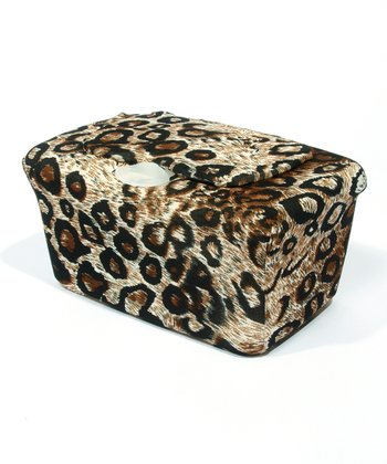 Brown Cheetah WipesWraps Baby Wipes Cover