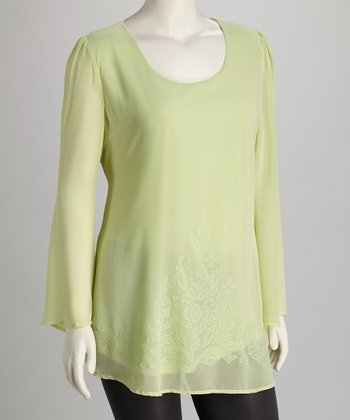 Mint Plus-Size Top