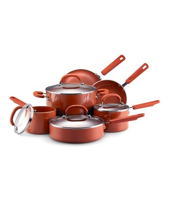 Terra-Cotta Nonstick 10-Piece Cookware Set