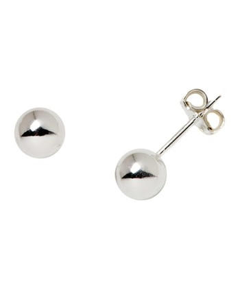 Sterling Silver Round Stud Earrings