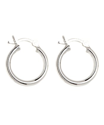 Sterling Silver 40-mm Hoop Earrings