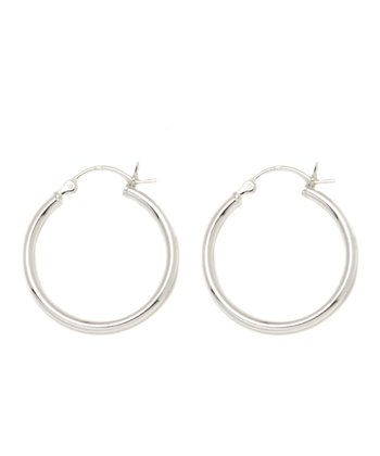 Sterling Silver 50-mm Hoop Earrings