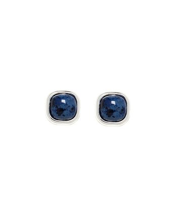 Lapis Square Stud Earrings