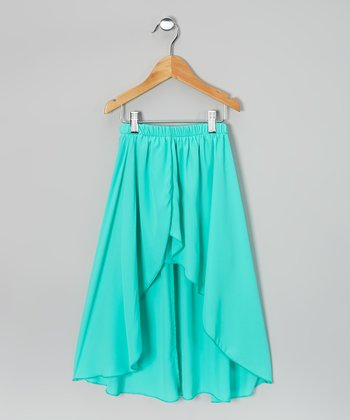 Mint Hi-Low Skirt
