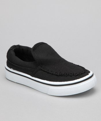 Black Brian Slip-On Sneaker