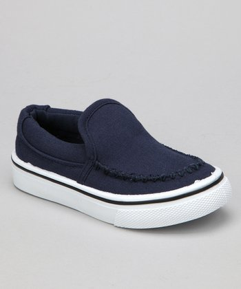 Navy Brian Slip-On Sneaker