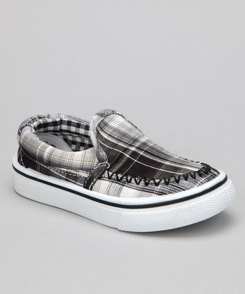 Black Plaid Brian Slip-On Shoe