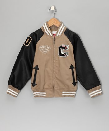 Khaki Captain Varsity Jacket - Toddler & Boys