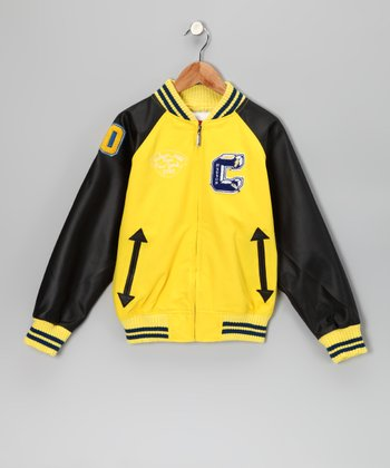 Yellow Captain Varsity Jacket - Toddler & Boys
