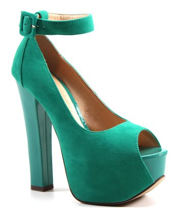 Aqua More of it Peeptoe Platform Shoe
