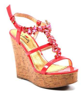 Bright Red Fine N Dandy Wedge