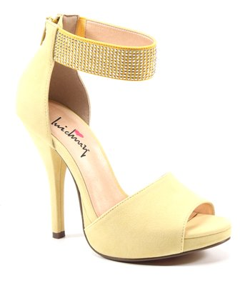 Light Yellow Take a Walk Peep-Toe Pump