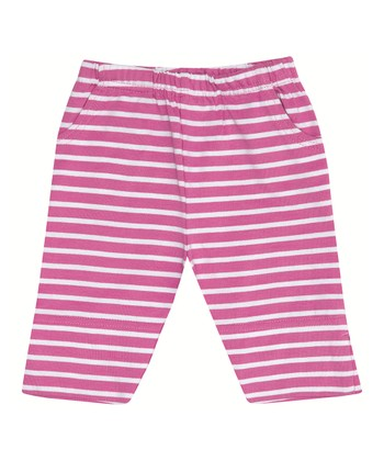 Orchid Breton Stripe Cropped Pants - Infant, Toddler & Girls