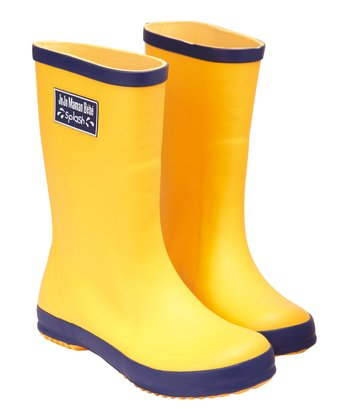 Yellow Wellie Rain Boot