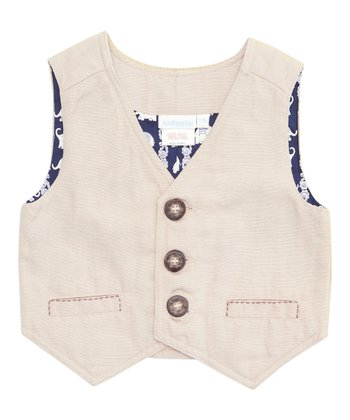 Natural Linen-Blend Vest - Infant, Toddler & Boys