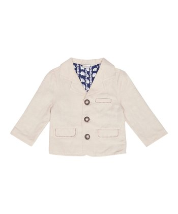Natural Linen-Blend Jacket - Infant, Toddler & Boys
