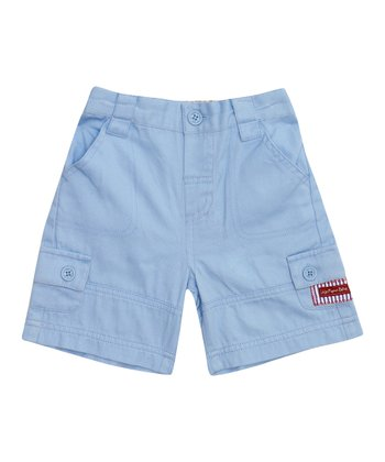 Blue Twill Shorts - Infant, Toddler & Boys