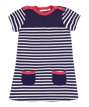 French Navy Stripe Breton Dress - Infant, Toddler & Girls