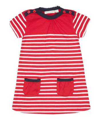 Strawberry Stripe Breton Dress - Infant, Toddler & Girls