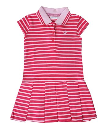 Fuchsia Stripe Polo Dress - Infant, Toddler & Girls