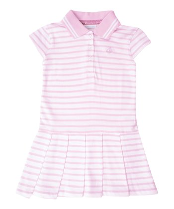Pink Stripe Polo Dress - Infant, Toddler & Girls