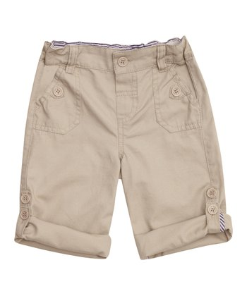 Stone Twill Turn-Up Pants - Infant, Toddler & Boys