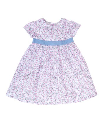 Pink Floral Party Dress - Infant, Toddler & Girls