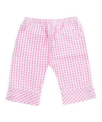 Pink Gingham Cropped Pants - Infant & Toddler