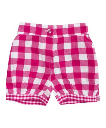 Fuchsia Gingham Shorts - Infant, Toddler & Girls