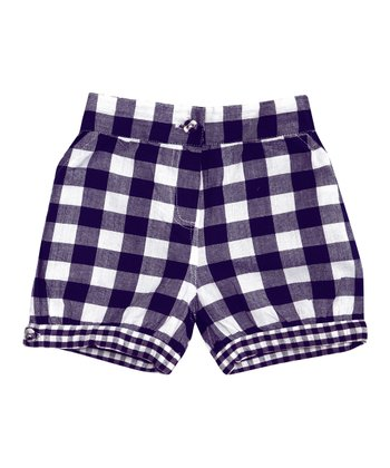 Navy Gingham Shorts - Infant, Toddler & Girls