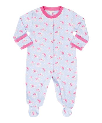 Blue Rose Footie - Infant