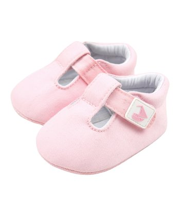 Pink Canvas T-Strap Shoe
