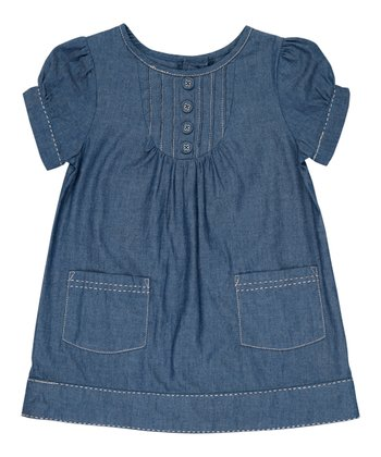 Blue Chambray A-Line Dress - Infant, Toddler & Girls