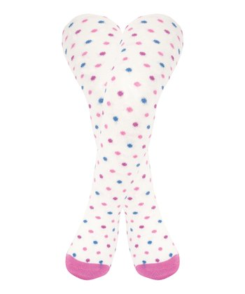 Cream Pretty Polka Dot Tights - Infant, Toddler & Girls