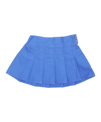 Cornflower Pleated Twill Skirt - Infant, Toddler & Girls