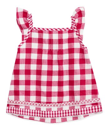 Fuchsia Gingham Top - Infant, Toddler & Girls