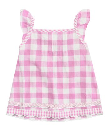 Pink Gingham Top - Infant, Toddler & Girls