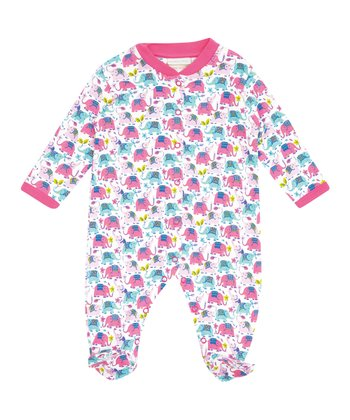 Fuchsia Elephant Footie - Infant