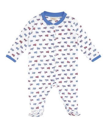Blue Plane Footie - Infant