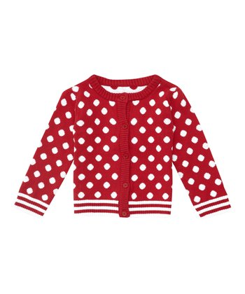 Strawberry Polka Dot Cardigan - Infant, Toddler & Girls